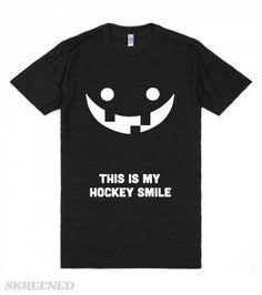 This is My Hockey Smile (Dark) | Take pride in your gap toothed smile with this This is My Hockey Smile tee! #Skreened