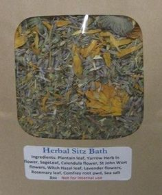 Herbal Sitz Bath Organic Botanical Soothing Hip Bath Healing Blend Wildcrafted Herbs Natural Traditional Formula Pennsylvania USA by NaturalHopeHerbals on Etsy