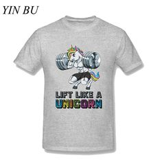 Eden Men's Lift Like A Unicorn Fitness Weightlifting Muscle T-shirt Men Cotton Funny Printed Tshirts Plus Size Park Shirt Men, Tee Shirts, Funny Prints, Muscle T Shirts, Weightlifting, Casual Wear, Bodybuilding, Unicorn, Plus Size