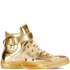 526d12d0d21f57 Converse - Chuck Taylor All Star Metallic Brea - Gold - Hi Top Sparkle  Converse