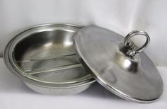 BW Buenilum Aluminum Bowl Covered Serving Dish with Pyrex 595 A-M Insert MCM #MidCenturyModern