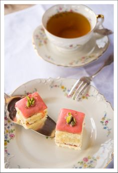 Berry Lovely: Petit Fours with Pistachio Buttercream