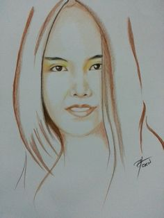 Simple drawing Colored pencil on paper A3