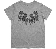 El Cheapo Birds at Rest (Black) Youth Grey Marle T-Shirt