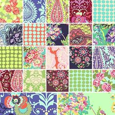 Amy Butler LOVE 5 INCH Quilting Fabric Squares