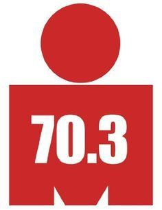 Red 70.3 (Ironman Mdot Shaped) Triathlon Sticker - http://www.exercisejoy.com/red-70-3-ironman-mdot-shaped-triathlon-sticker/fitness/