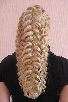 3 dutch braids pulled apart or fattened