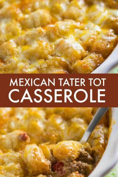Mexican Tater Tot Casserole - This easy recipe was a hit with my family! It was spicy, hearty and tasty. Comfort food for the win. #tatertotcasserole #casserole