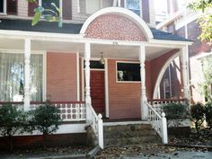 836 Greene Street, Augusta GA $189,900 9BR/8BA, 2 Kitchen, Historic restored Queen Ann Victorian Step into this 18th century beauty featuring: original heart of pine floors w/cherry inlay design; restored grand stair case rises from formal foyer w/fireplace; rose pine judges paneling; wanes coating; ornate coffer ceilings; hand crafted millwork & more. 9 working gas fireplaces with Majolica English tile or hand carved wood; 10 ceilings; bead board ceilings and multiple porches ... just WOW!