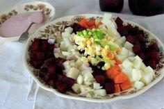 Rosolli - Finnish Christmas beetroot salad