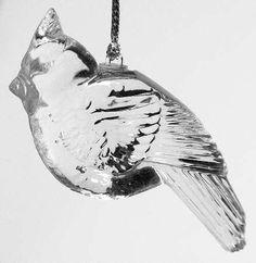 lenox crystal christmas ornament - bird