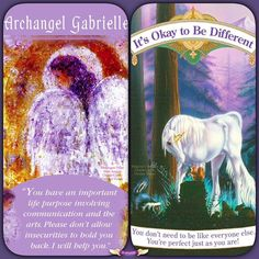 My guidance was to pull two cards for you today and I love the combined message they have for you:  Be you! It's time to uncover your beautiful inner weirdness and shine it brightly for the world to benefit.  The Archangel Gabriel is with you as the messenger angel helping you to express what's in your heart and soul.  Express your true and unique thoughts ideas and visions through writing arts creative pursuits speaking music etc.  Don't worry about criticism or trying to fit into some…