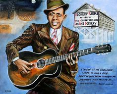 Robert Johnson Mississippi Delta Blues by Karl Wagner Robert Johnson, Delta Blues, Rhythm And Blues, Blues Music, Mississippi Delta, Elvis Presley Photos, Blue Poster, Blues Artists, Thing 1
