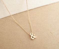3D Ampersand Necklace Gold  ampersand unique von LittleThingsByTCY, $15.00