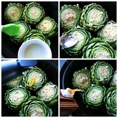 Do you love artichokes but have a hard time cooking them? This Crockpot Artichokes recipe takes all the guess work out of cooking a perfect artichoke. Healthy Crockpot Recipes, Slow Cooker Recipes, Vegetarian Recipes, Cooking Recipes, Artichoke Recipes, Family Fresh Meals, Incredible Edibles, Vegetable Dishes, Along The Way