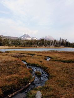 The Three Sisters and Broken Top at Golden Lake, Sisters Wilderness, Oregon
