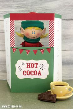 Elf on the Shelf Printable Hot Cocoa Stand from @733blog