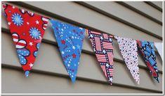 DIY Pennant Flag for Patriotic Holidays #memorialday #fourthofjuly
