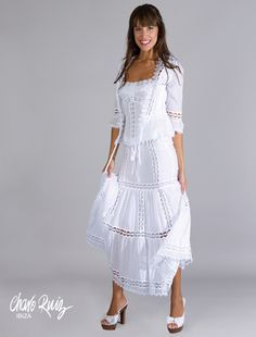 Ideas dress casual white shoes for 2019 Trendy Dresses, Casual Dresses, Summer Dresses, Dress Skirt, Lace Dress, White Dress, White Fashion, Boho Fashion, Womens Fashion