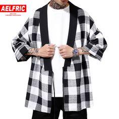 2019 Men Baggy Striped Festival Hippy Cardigan Japanese Style Kimono Coat Jacket