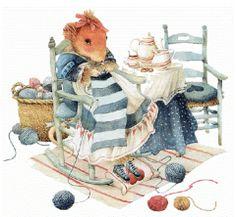 Vera la souris tricote un foulard  de Marjolein Bastin