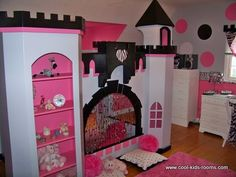 I love this bunk bed idea. I would do a desk or drawing area up top.. *** Jennifer