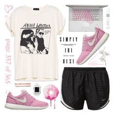 """""""Maybe we found love right where we are."""" by alexandra-provenzano ❤ liked on Polyvore featuring Pier 1 Imports, NIKE, Christian Dior, NARS Cosmetics, Pebble and Madewell"""