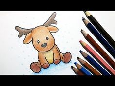 How to draw a cute cartoon reindeer - Wi . - How to draw a cute cartoon reindeer – wi … – - Easy Christmas Drawings, Christmas Sketch, Christmas Doodles, Christmas Pictures To Draw, Christmas Cards Drawing, Christmas Paintings, Xmas Drawing, Drawing S, Drawing Ideas