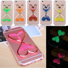 Glow In The Dark Dynamic Liquid Bling Glitter Quicksand Case Cover For iPhone 7 Iphone 4s, Apple Iphone 6, Iphone Cases Disney, Coque Iphone, Iphone 7 Cases, Kawaii Phone Case, Cute Phone Cases, Smartwatch, Samsung Galaxy