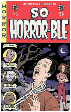Stories Written by Jonathan Baylis  Front Cover Art by Danny Hellman     Horror comicbook cover.