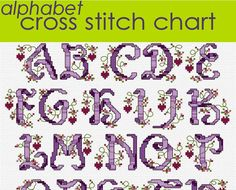 Ribbon and Hearts Alphabet Sampler Cross Stitch by clairecrompton