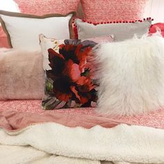 Having a red hot go at bed #decorating today. Too much? .