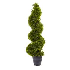 3-foot Grass Spiral Topiary w/Deco Planter