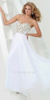 Chiffon Keyhole Back Prom Gown by Tony Bowls Paris