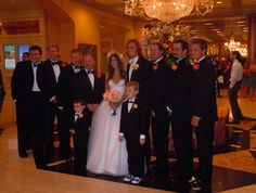 The groomsmen with the bride an groom