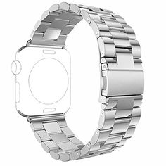 Classic version for all models of Apple Watch and feels comfortable on your wrist * Premium stainless steel metal features luxury, nobility, elegance & durability * Refined dual fold-over clasp design, easily to take on/remove, safe & fashion * Precise designed to fit well for most wrist. User can adjust the length easily using the provided tool * (Placed within the Amazon Associates program) * 12:19 Mar 19 2017