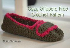 cozy crochet slippers pattern