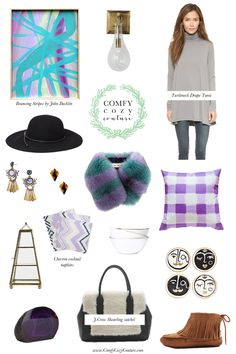 Comfy Cozy Couture: Wednesday Wish List | Pops of Purple