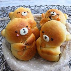Miki's Food Archives : Teddy Bear Bread 可爱小熊软面包