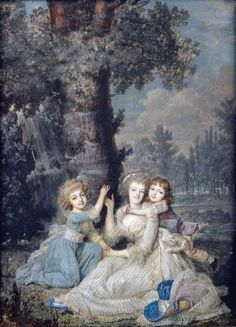 Marie Antoinette and Her Children by unknown artist (I couldn't find one - do you know it?), 1790