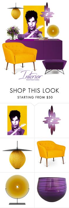 """Purple & Yellow Prince"" by leanne-mcclean ❤ liked on Polyvore featuring Deknudt Mirrors and Mitchell Gold + Bob Williams"
