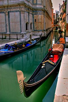 Gondola along the Canal in Venice, Italy