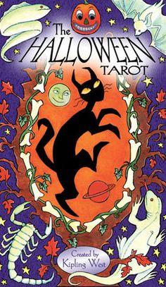The Halloween Tarot Deck Cards Wiccan Pagan Metaphysical Halloween Art, Halloween Gifts, Halloween Themes, Vintage Halloween, Happy Halloween, Tarot Card Decks, Tarot Cards, Frankenstein, The World Tarot