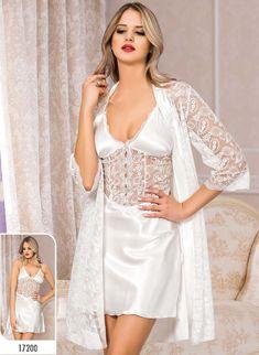 Lace Lingerie Set, Bridal Lingerie, Beautiful Lingerie, Women Lingerie, Pretty Lingerie, Satin Kimono, Satin Gown, Satin Dresses, Satin Nightie