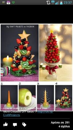 Fruit xmas tree