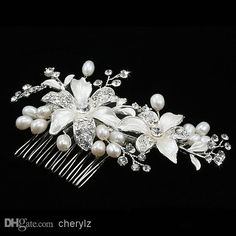Wholesale Bridal Hair Accessories - Buy Wedding Bridal Hair Comb Crystal Floral Ornaments Pearl Fine Jewelry Hair Brush Wedding Dress Accessories HL013080, $9.43 | DHgate