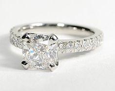 Nouveau Diamond Engagement Ring in Platinum #BlueNile