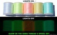 Glow in the Dark Embroidery Machine Thread 5 pc 1000M