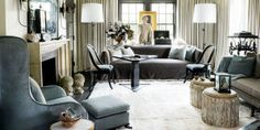 Designers at Home: Susan Ferrier – Greige Design My Living Room, Living Area, Living Spaces, Cool Rooms, Great Rooms, Veranda Magazine, Design Salon, Design Design, Atlanta Homes
