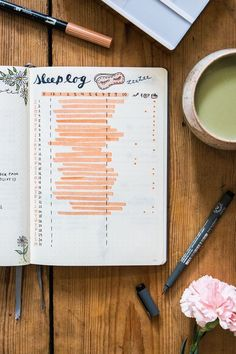 Keep track of you sleep in this bullet journal collection - sleep tracker #Collectibles
